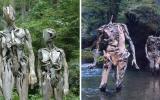 Нагато Ивасаки японский художник. Он создает невероятные скульптуры из коряги.Каждая из его человеческих фигур может напугать вас.Художнику удается создать неприятное чувство, используя только древесину, и вы можете быть уверены, что если вы наткнетесь на одну из этих скульптур ночью, вы не будете спать в течение нескольких дней.