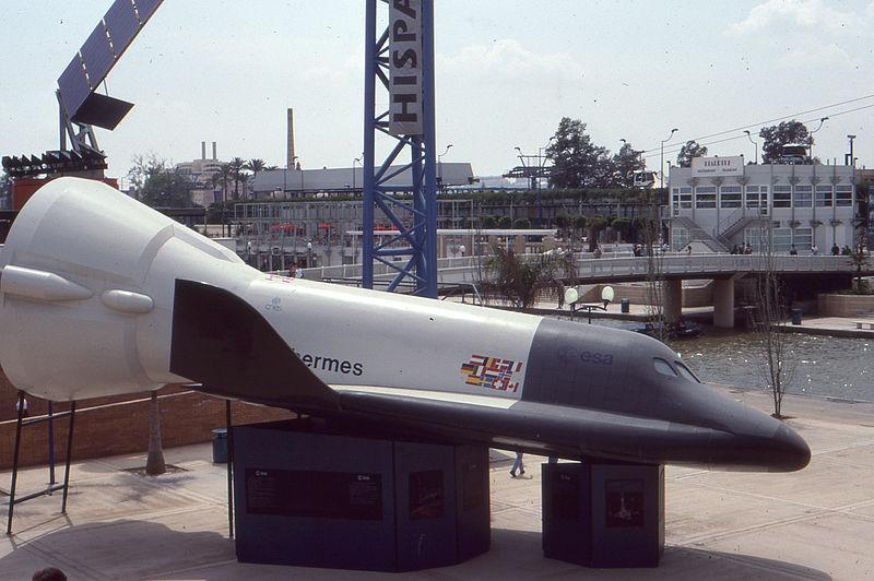 "Разрабатывавшийся, pero no летавший pilotado por спускаемый aparato espacial avión ""hermes"" (esa, 1970-80-e se)"