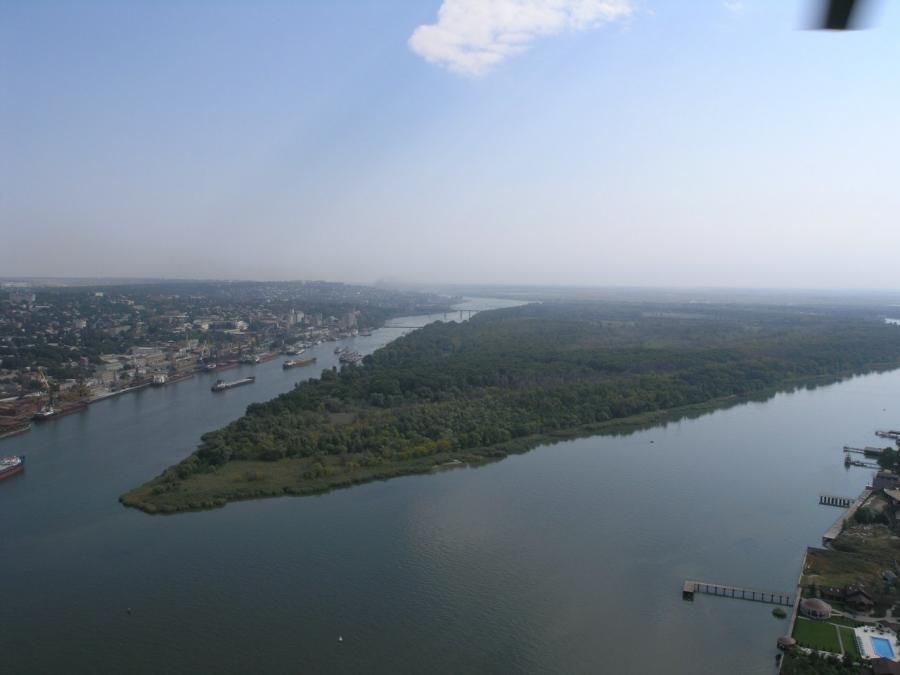 Zeleny is a river island located in the lower reaches of the Don River, in the Rostov region. The length is 4 km (from west to east), the maximum width is 1.5 km.