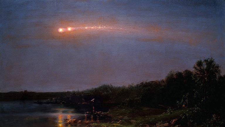 Фредерик Эдвин Чёрч, «Метеор 1860 года»— первое в истории наблюдение коснувшегося метеора.