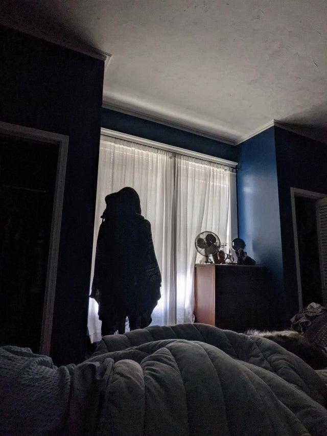 Autor: u / gruesomeflowers Me desperté y encontré a mi esposa moviendo nuestra percha ayer.