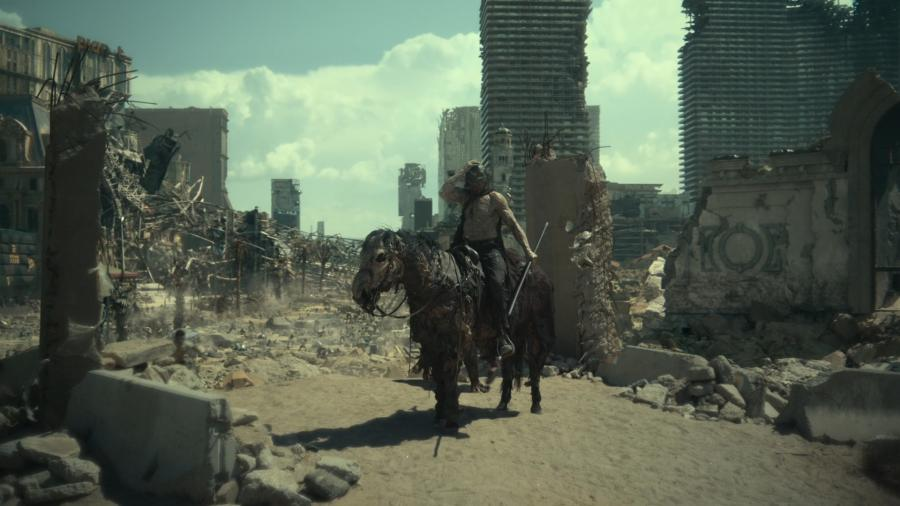 Альфа-зомби Зевс на зомби-лошади