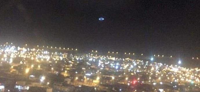 Адрес:г.Икике, Чили  Дата:13.11.2015  Описание:Тестовый запуск проекции часов на облаках.