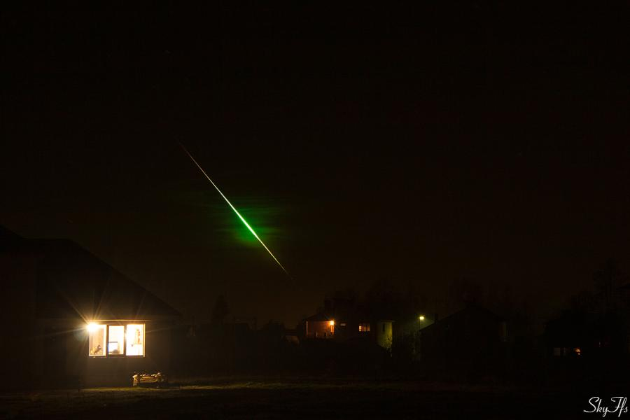 Летящий метеор, 31.10.2015