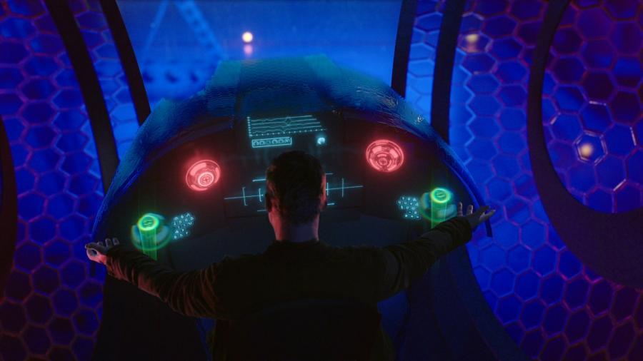 Кабина управления космическим кораблем пришельца